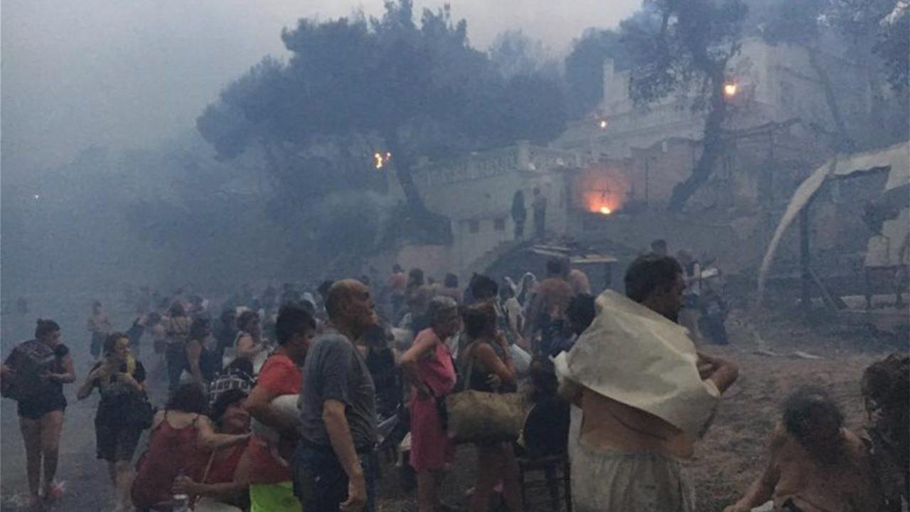 Φωτιά στο Μάτι: Εικόνες που κόβουν την ανάσα - ΒΗΜΑ ΟΡΘΟΔΟΞΙΑΣ