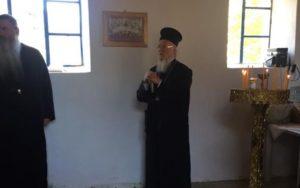 Ο Οικ.Πατριάρχης στην Παναγία την Μπαλωμένη στην Ιμβρο (ΦΩΤΟ)