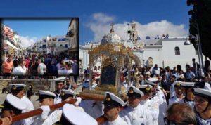 Παναγία Τήνου: Χιλιάδες προσκυνητές για τη γιορτή της Παναγίας (ΦΩΤΟ)