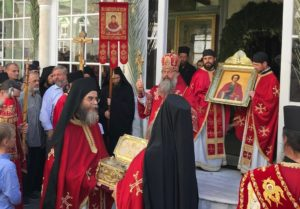 Ο Μητροπολίτης Αικατερινβούργου και Ρώσοι προσκυνητές στο Αγιο Ορος (ΦΩΤΟ)