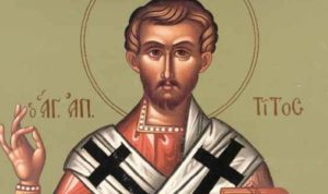 Αγιος Απόστολος Τίτος – Γιορτή σήμερα 25 Αυγούστου – Ποιοι γιορτάζουν