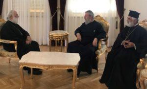 Συνάντηση του Αλεξανδρείας Θεόδωρου με τον Κύπρου Χρυσόστομο