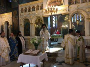 Μνημόσυνο της μακαριστής Καθηγουμένης Θεοφανούς υπό του Αρχιεπισκόπου
