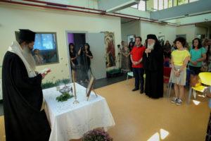 Ο Αρχιεπίσκοπος στον Αγιασμό στον Βρεφονηπιακό Σταθμό της «Αποστολής» (ΦΩΤΟ)