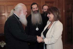 Την υφ.Αγροτικής Ανάπτυξης δέχθηκε ο Αρχιεπίσκοπος Ιερώνυμος (ΦΩΤΟ)