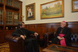 Επαφές του Βολοκολάμσκ Ιλαρίωνα με τον Αποστολικό Νούντσιο στη Ρωσία (ΦΩΤΟ)