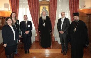 Για το προσφυγικό συζήτησε ο Αρχιεπίσκοπος με την αντιπροσωπεία των Ευρωπαϊκών Εκκλησιών