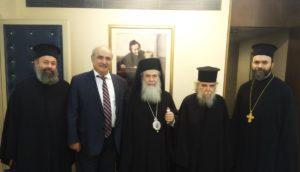 «Αμέριστη η συμπαράσταση της Ελλάδας στο Πατριαρχείο Ιεροσολύμων»