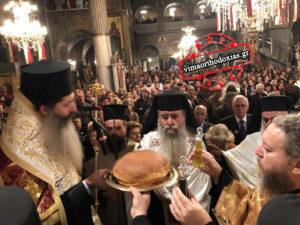 Κοσμοσυρροή στον Αγιο Λουκά στην Αθήνα-Πανηγυρικός Εσπερινός υπό του Θεσπιών Συμεών