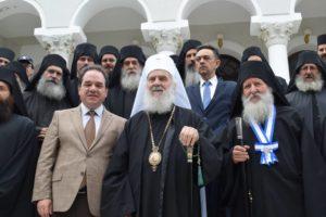 Λαμπρή υποδοχή του Πατριάρχη Σερβίας στο Αγιο Ορος (ΦΩΤΟ)