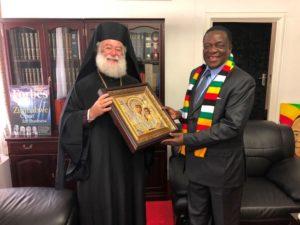 Συνάντηση του Αλεξανδρείας Θεόδωρου με τον πρόεδρο της Ζιμπάμπουε (ΦΩΤΟ)