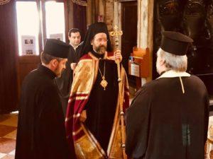 Χοροστασία του Τελμησσού Ιώβ, στον Άγιο Γεώργιο των Ελλήνων στη Βενετία