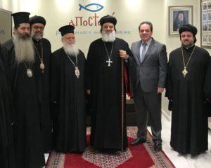 Τη βοήθεια της «ΑΠΟΣΤΟΛΗΣ» στη Συρία ζήτησε ο Συροϊακωβίτης Πατριάρχης