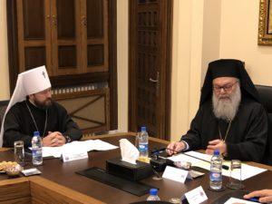 Με τον Αντιοχείας Ιωάννη συναντήθηκε στη Δαμασκό ο Βολοκολάμσκ Ιλαρίωνας (ΦΩΤΟ)