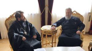 Με τον Κύπρου Χρυσόστομο συναντήθηκε ο Βολοκολάμσκ Ιλαρίωνας (ΦΩΤΟ)