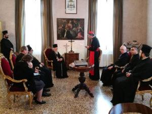 Συνάντηση Βαρθολομαίου με τον Ρωμαιοκαθολικό Πατριάρχη Βενετίας