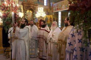 Εύοσμος: Θεία Λειτουργία με τον Γέροντα Εφραίμ ενώπιον της Αγίας Ζώνης