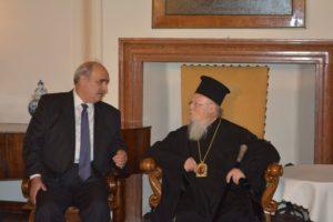 Με τον Ελληνα Υφ.Εξωτερικών συναντήθηκε ο Οικ.Πατριάρχης (ΦΩΤΟ)