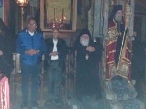 Μητροπολίτης Κισσάμου, Δ.Καμμένος και Π.Μπαλτάκος στη Μονή Ξενοφώντος (ΦΩΤΟ)