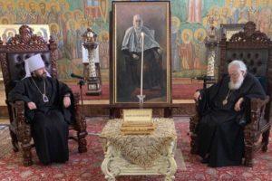 Στον Πατριάρχη Γεωργίας ο Βολοκολάμσκ Ιλαρίωνας (ΦΩΤΟ)