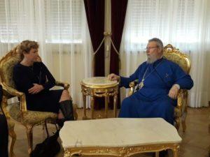 Συνάντηση του Αρχιεπισκόπου Κύπρου με την αποχωρούσα Πρέσβειρα των Η.Π.Α.