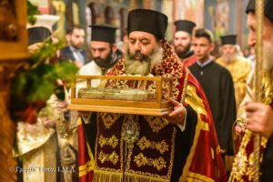 Ο Λαγκαδάς υποδέχθηκε τη Δεξιά Χείρα του Αγίου Νεκταρίου (ΦΩΤΟ)