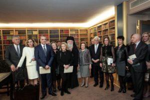 Ο Αρχιεπίσκοπος Ιερώνυμος στα εγκαίνια της βιβλιοθήκης της ΕΣΗΕΑ (ΦΩΤΟ)