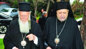 Ευχές του Οικ.Πατριάρχη στον Μητροπολίτη Γέροντα Χαλκηδόνος Αθανάσιο