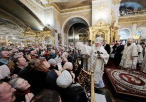 Εορτασμός των Θεοφανείων στη Μόσχα (ΦΩΤΟ)
