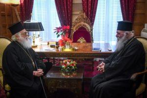 Συνάντηση του Αρχιεπισκόπου Ιερώνυμου με τον Αλβανίας Αναστάσιο (ΦΩΤΟ)
