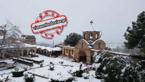 Κατερίνη: Στιγμιότυπα από την κάτασπρη Ι.Μονή Οσίου Εφραίμ του Σύρου (ΒΙΝΤΕΟ & ΦΩΤΟ)