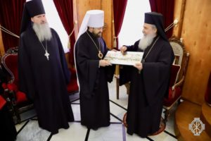 Ο Μητροπολίτης Βολοκολάμσκ στον Πατριάρχη Ιεροσολύμων (ΦΩΤΟ)
