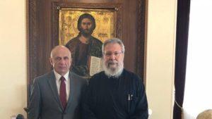 Τον Ουκρανό πρέσβη δέχθηκε ο Κύπρου Χρυσόστομος – Τι ειπώθηκε για την αυτοκεφαλία