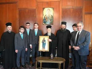 Τελειόφοιτοι της Αθωνιάδας επισκέφθηκαν τον Οικουμενικό Πατριάρχη