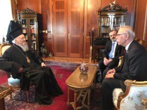 Συνάντηση του Οικουμενικού Πατριάρχη με τον Δημήτρη Βίτσα (ΦΩΤΟ)