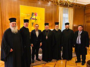 Στο Μέγαρο Μαξίμου η αντιπροσωπεία του Οικ. Πατριαρχείου- Τι είπαν με τον Τσίπρα
