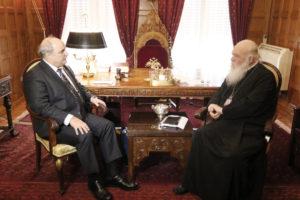 Συνάντηση του Αρχιεπισκόπου με τον Μάρκο Μπόλαρη (ΦΩΤΟ)