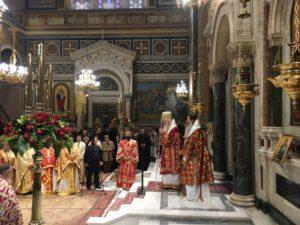Ο εορτασμός της Αγίας Φιλοθέης στον Ιερό Μητρ. Ναό Αθηνών