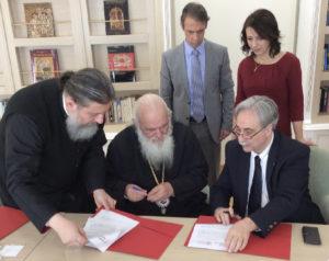 Συμφωνία συνεργασίας του Αρχιεπισκόπου με φορείς (ΦΩΤΟ)