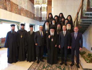 Ο Αρχιεπίσκοπος και Συνοδικοί Ιεράρχες στη Ρωσική Πρεσβεία στην Αθήνα (ΦΩΤΟ)