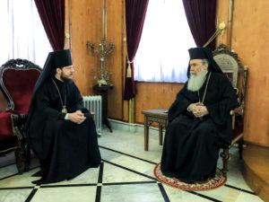 Συνάντηση του Ιεροσολύμων Θεόφιλου με τον Επίσκοπο Μπαρυσέφκα (ΦΩΤΟ)