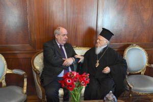 Με τον Τέρενς Κουίκ συναντήθηκε ο Οικουμενικός Πατριάρχης