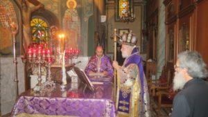 Η πρώτη Εσπερινή Θεία Λειτουργία των Προηγιασμένων στην Ι. Μ. Σύρου