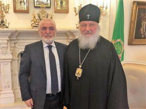 Συνάντηση του Μόσχας Κύριλλου με τον Ιβάν Σαββίδη (ΦΩΤΟ)