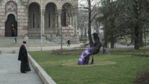 Βελιγράδι: Βανδαλισμός στο μνημείο του Πατριάρχη Παύλου (ΦΩΤΟ)