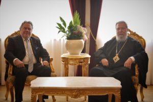 Με τον Γ. Κατρούγκαλο συναντήθηκε ο Κύπρου Χρυσόστομος (ΦΩΤΟ)