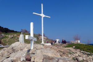 Αγιασμός στο μεγάλο Σταυρό στη Λέσβο (ΒΙΝΤΕΟ)