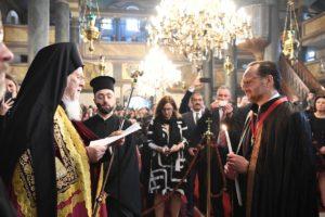 Χειροθεσία νέου Άρχοντος Οφφικιάλιου από τον Οικουμενικό Πατριάρχη (ΦΩΤΟ)