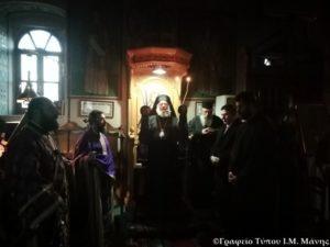 Ι.Μ. Μάνης: Προηγιασμένη Θεία Λειτουργία (ΦΩΤΟ)