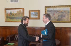 Με τον Ελληνα Πρέσβη στη Ρωσία συναντήθηκε ο Βολοκολάμσκ Ιλαρίωνας (ΦΩΤΟ)